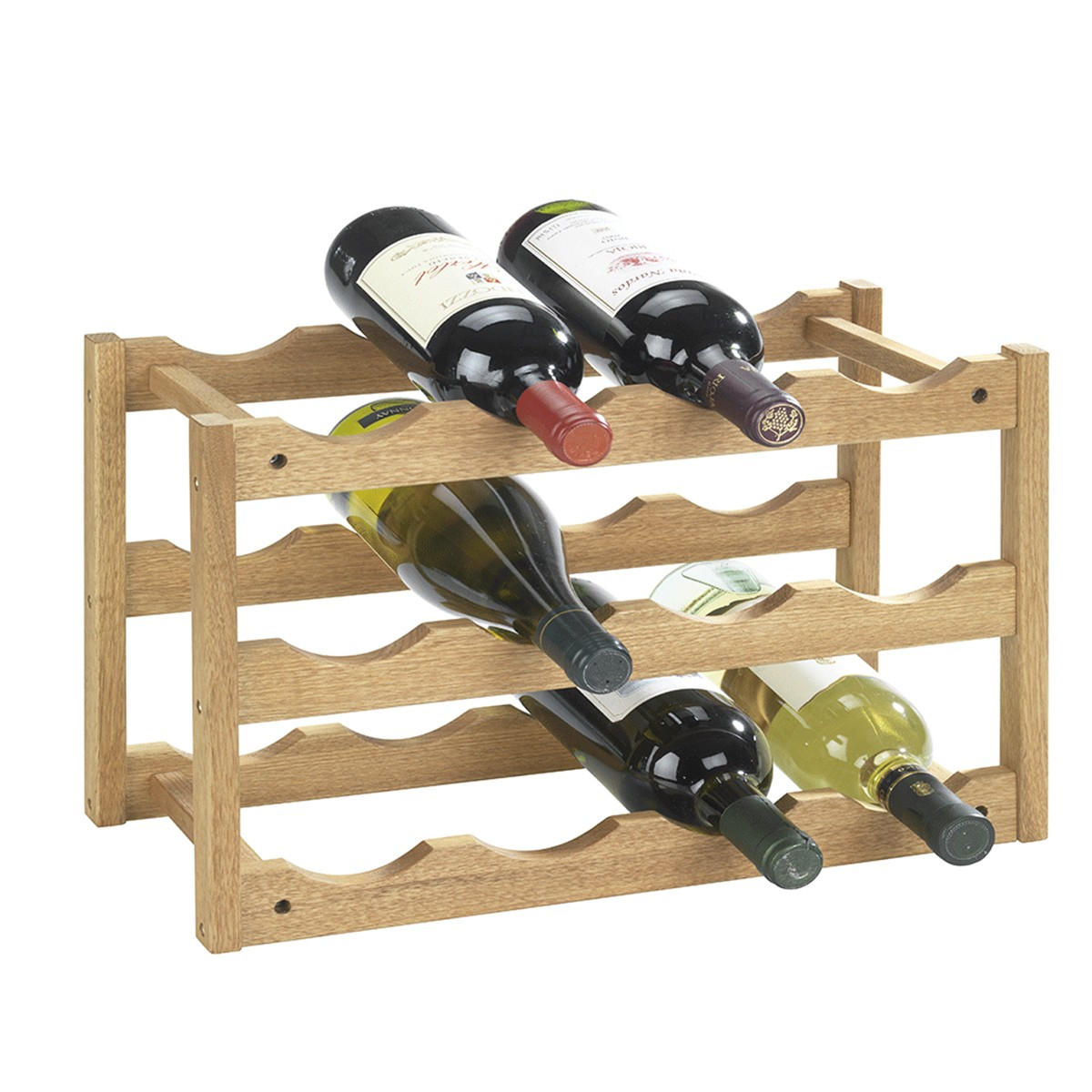 rack vin empilable en bois de noyer cave rangement vin. Black Bedroom Furniture Sets. Home Design Ideas