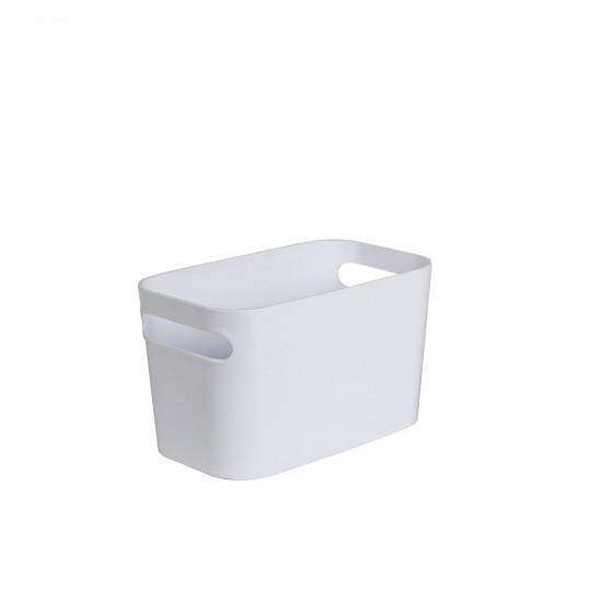 Haut bac en plastique blanc brillant M