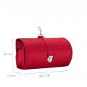 Trousse de toilette rouge à suspendre