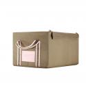 Boîte de rangement en tissu kaki avec armature M