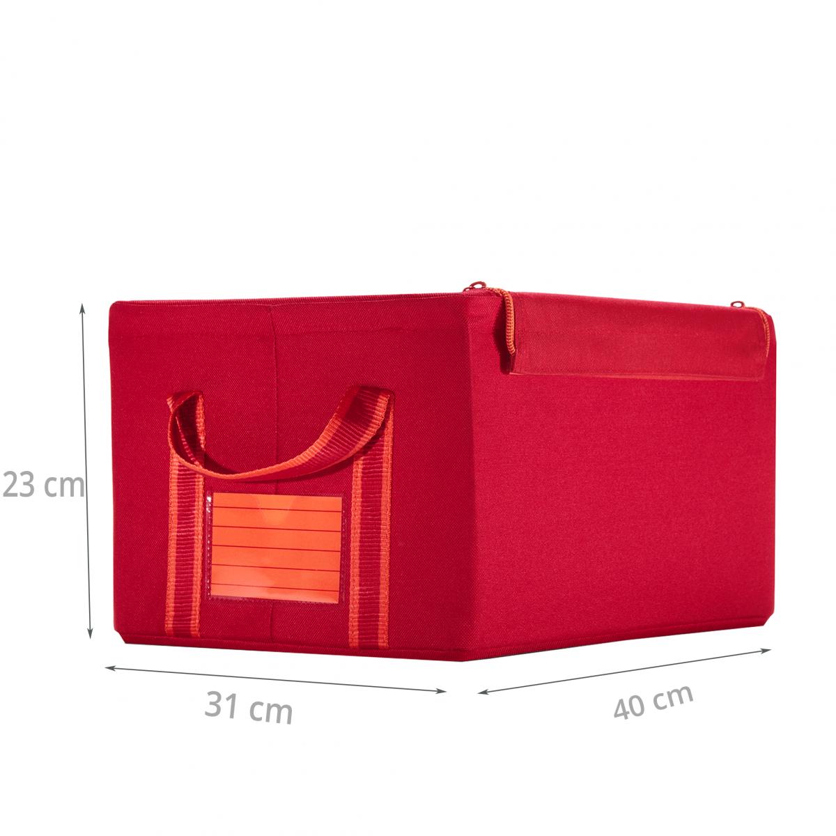 bo te tissu rouge organisation placards. Black Bedroom Furniture Sets. Home Design Ideas