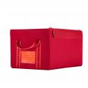 Boîte de rangement en tissu rouge avec armature L
