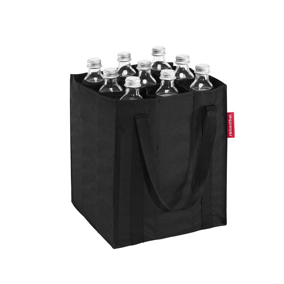 sac bouteilles en tissu noir cuisine rangement boissons. Black Bedroom Furniture Sets. Home Design Ideas