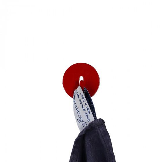 4 crochets rouges aimantés et ronds