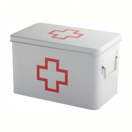 Boîte à pharmacie en métal à 5 compartiments
