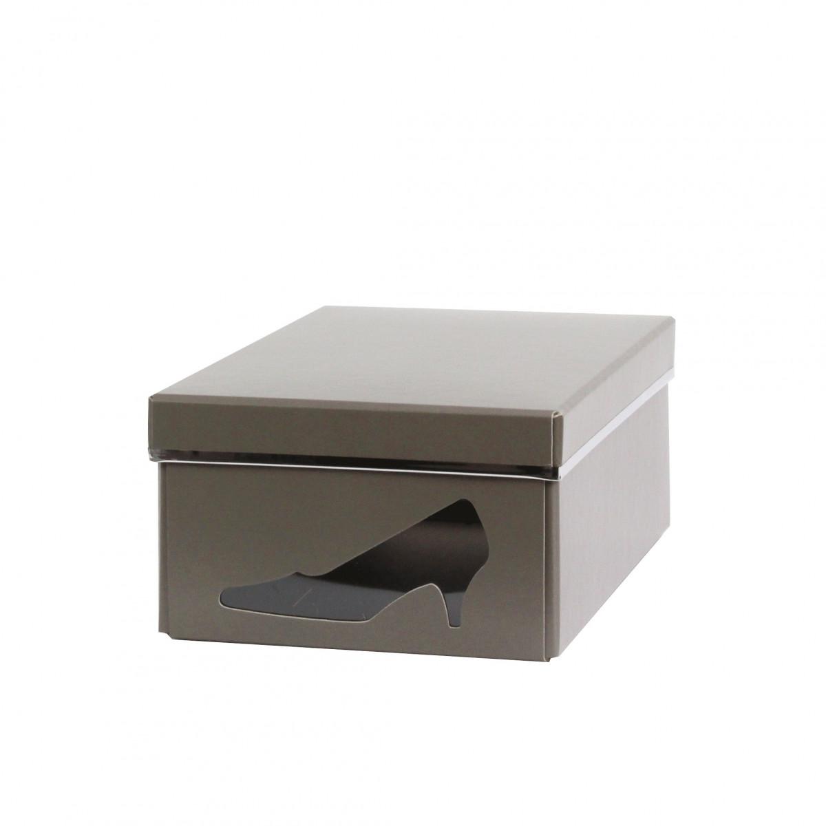 Bo te chaussures carton taupe rangement - Boite de rangement chaussure ...