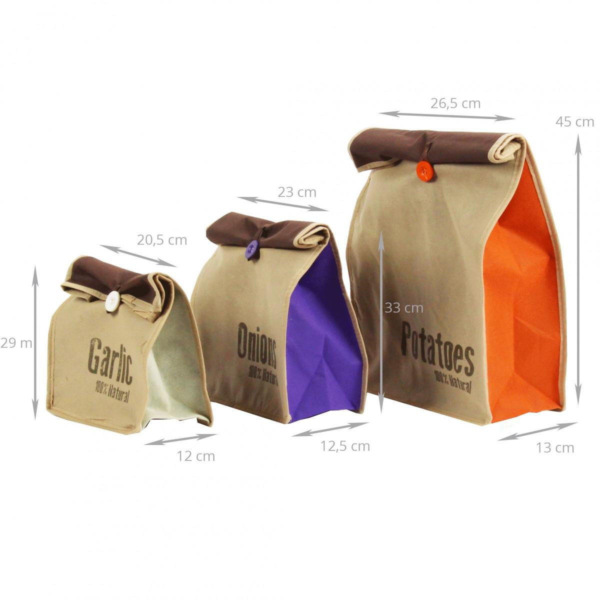 3 sacs conservation ail oignon pomme de terre. Black Bedroom Furniture Sets. Home Design Ideas