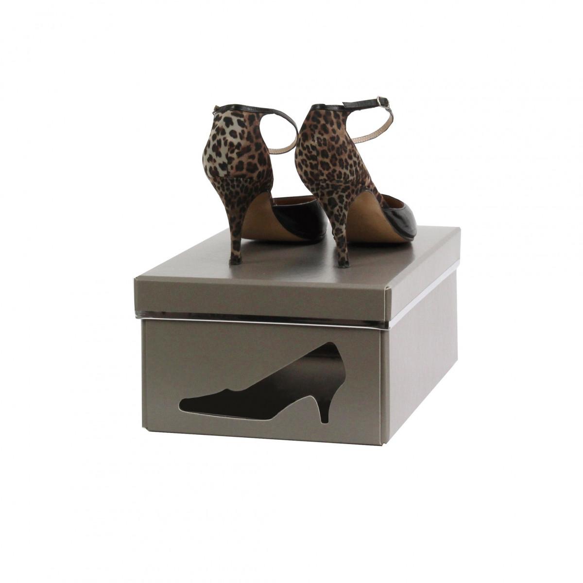 Bo Te Chaussures Carton Taupe Rangement