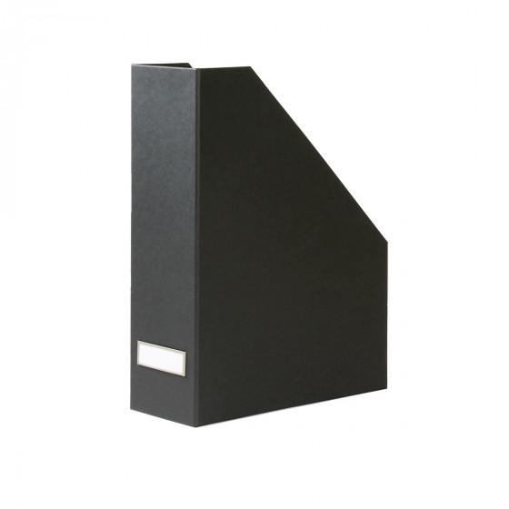 Range-dossiers en carton gris anthracite