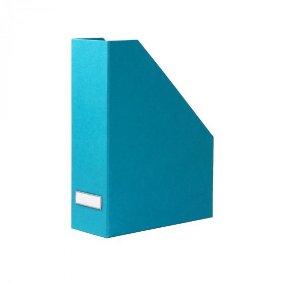 Range-dossiers en carton turquoise