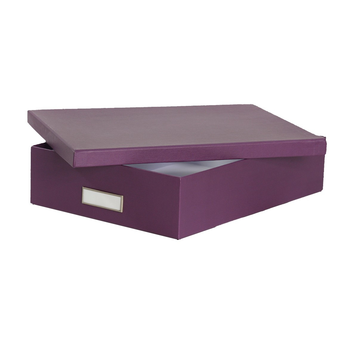bo te de classement a4 en carton violet rangement bureau. Black Bedroom Furniture Sets. Home Design Ideas