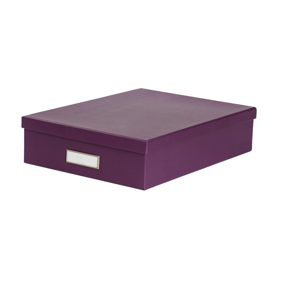Bo te de classement a4 en carton violet rangement bureau for Classement papier bureau