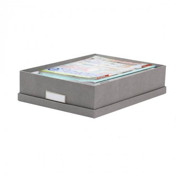 Boîte A4 en carton gris flanelle
