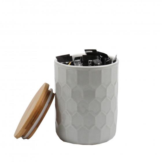 petit pot en porcelaine gris clair rangement cuisine. Black Bedroom Furniture Sets. Home Design Ideas