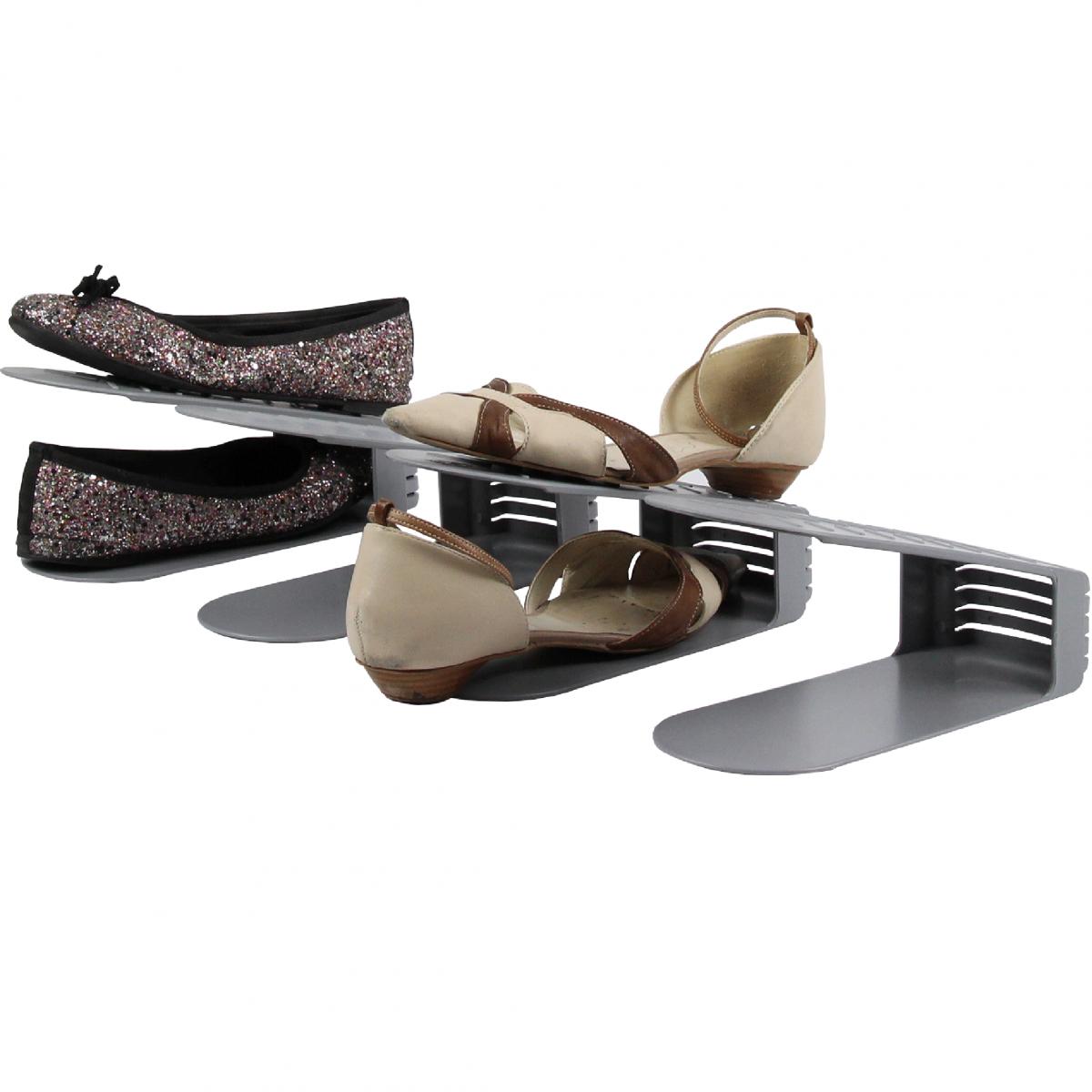 Range chaussures en plastique lot de 4 - Range chaussures bois ...
