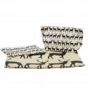 Pochette en tissu enduit avec des cerfs noirs