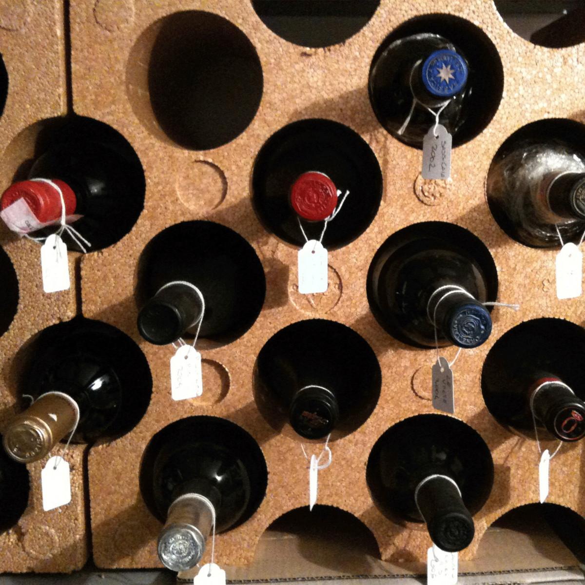Casier 15 bouteilles en polystyr ne couleur terre cuite cave - Casier bouteille polystyrene gifi ...