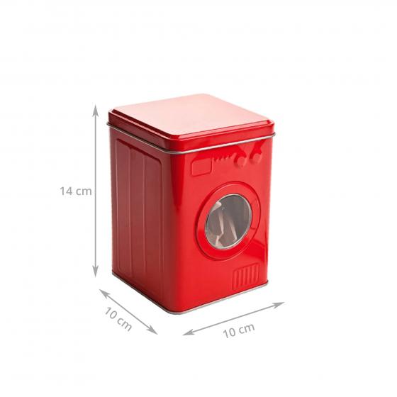 Boîte de rangement pour pinces à linge en métal rouge
