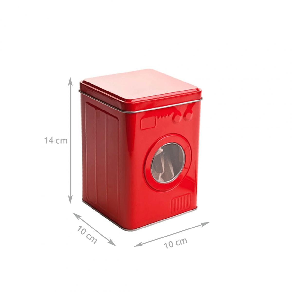 bo te de rangement pour pinces linge en m tal rouge et en forme de lave linge livraison. Black Bedroom Furniture Sets. Home Design Ideas