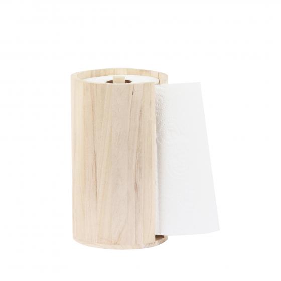 Porte rouleau essuie-tout en bois