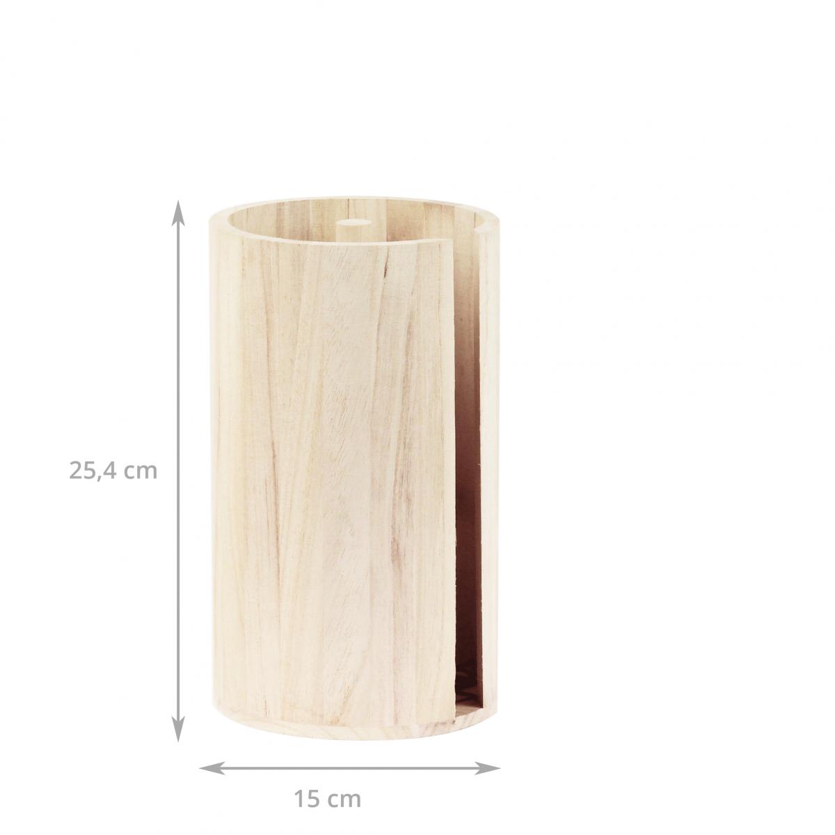 Porte rouleau essuie tout en bois brut rangement cuisine for Porte de cuisine en bois brut