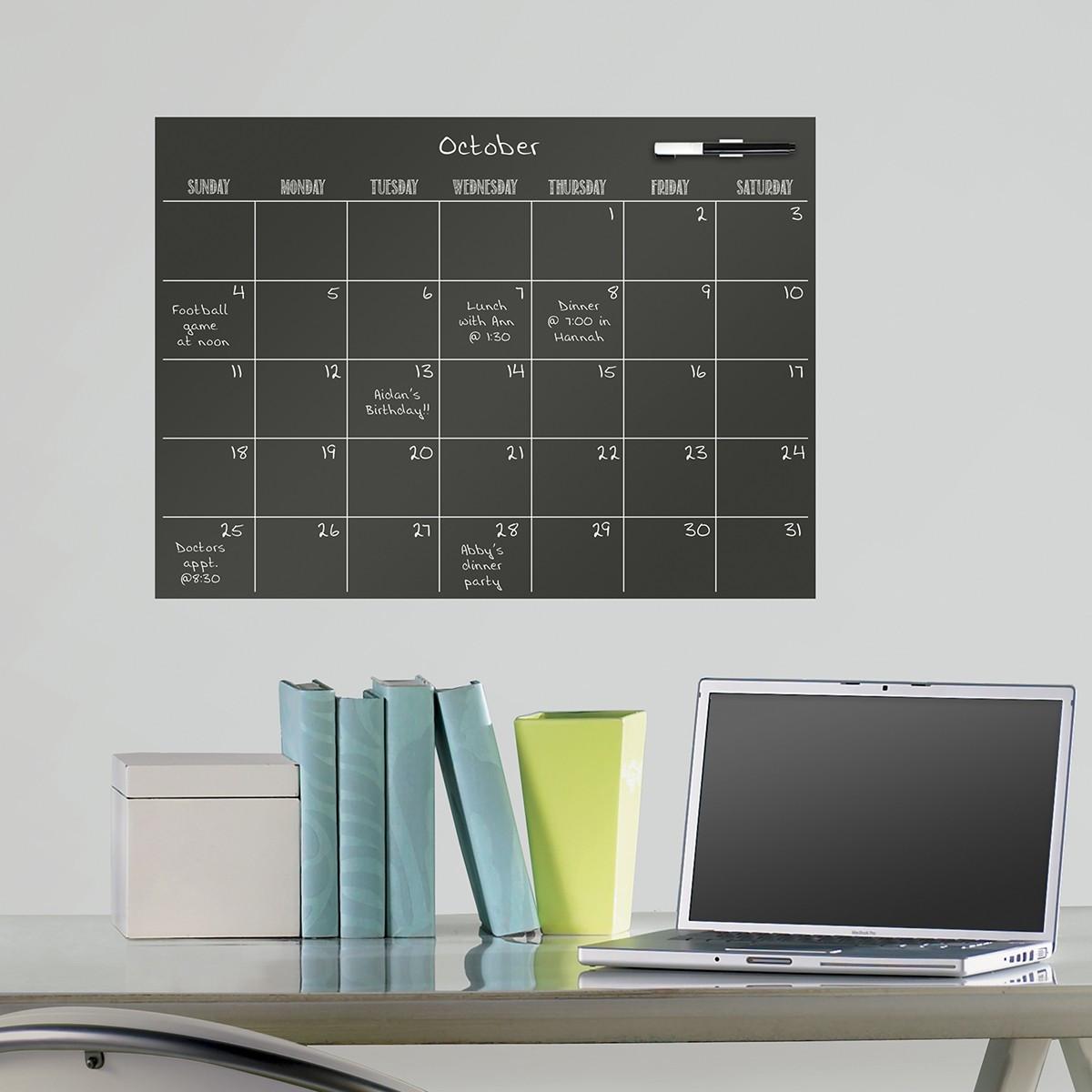 Feuille Adh 233 Sive Noire Avec Planning Mensuel