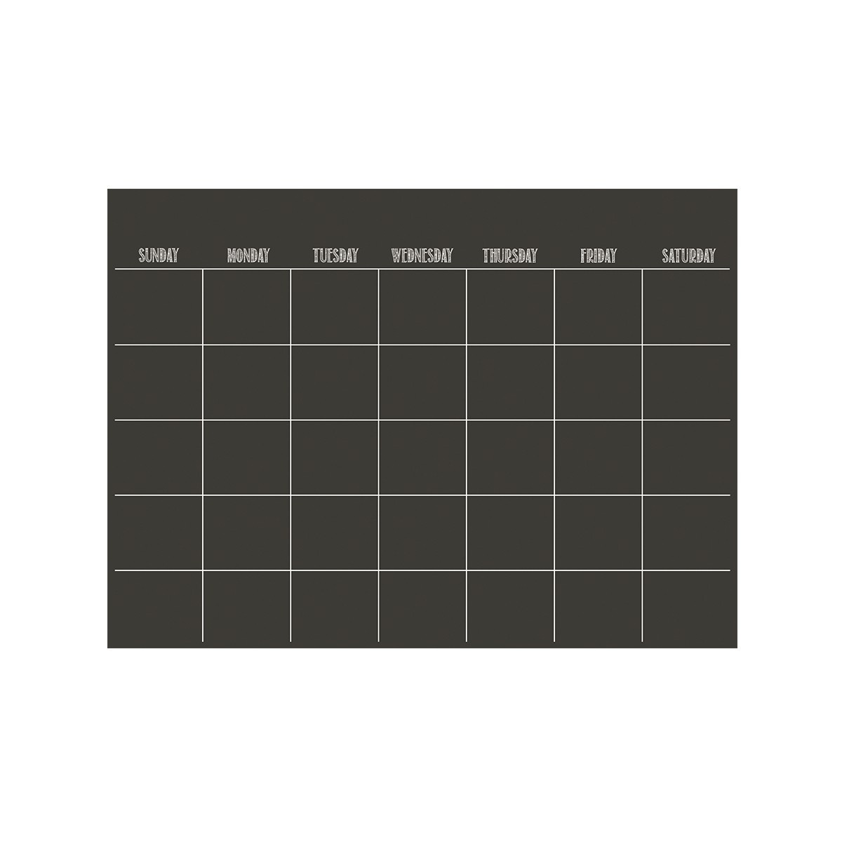 feuille adh sive noire avec planning mensuel. Black Bedroom Furniture Sets. Home Design Ideas