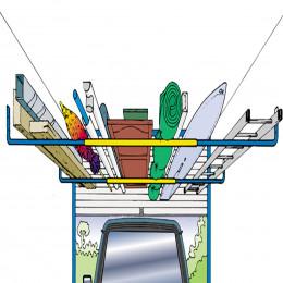 Paire de barres de rangement pour plafond de garage