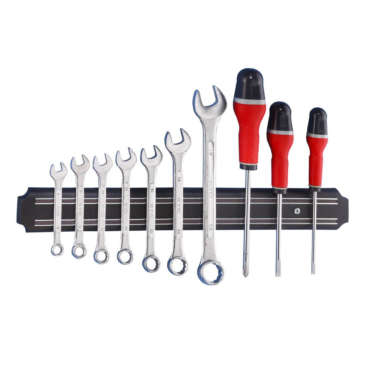 barre magn tique porte outils noire 38 cm livraison possible en 48h. Black Bedroom Furniture Sets. Home Design Ideas