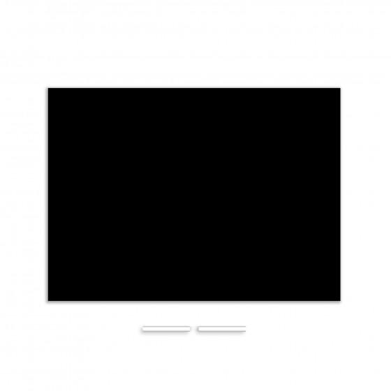 Grand sticker ardoise repositionnable noir avec 2 craies