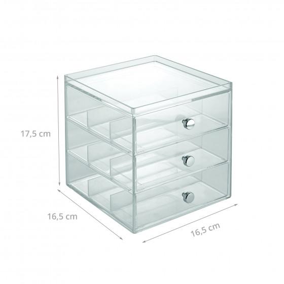 Boîte de rangement en acrylique pour lunettes
