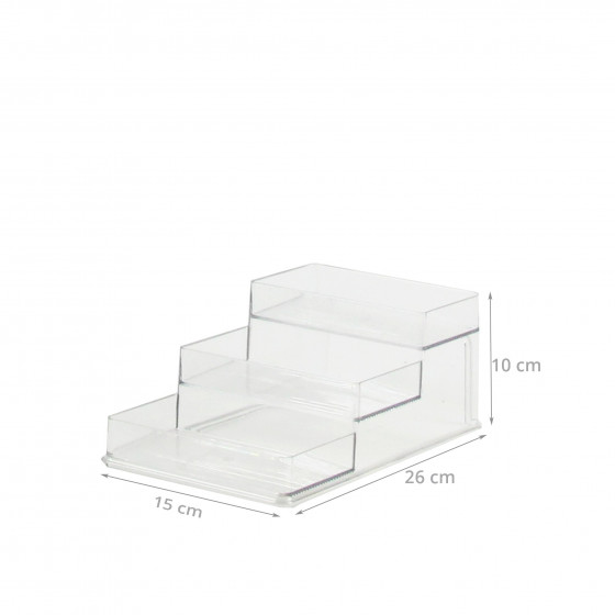 etag re a pices en plastique transparent 3 gradins. Black Bedroom Furniture Sets. Home Design Ideas
