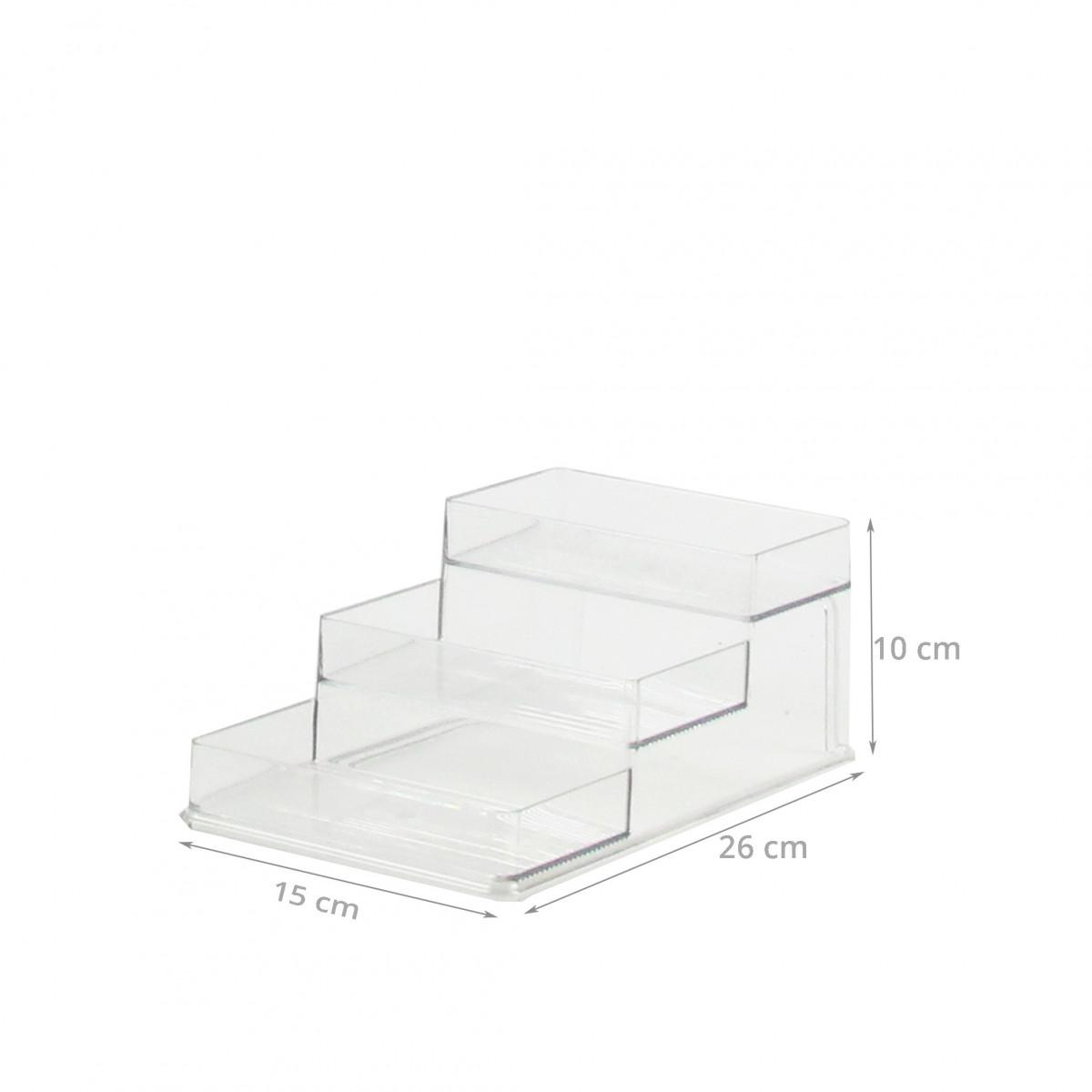 etag re a pices en plastique transparent 3 gradins. Black Bedroom Furniture Sets. Home Design Ideas