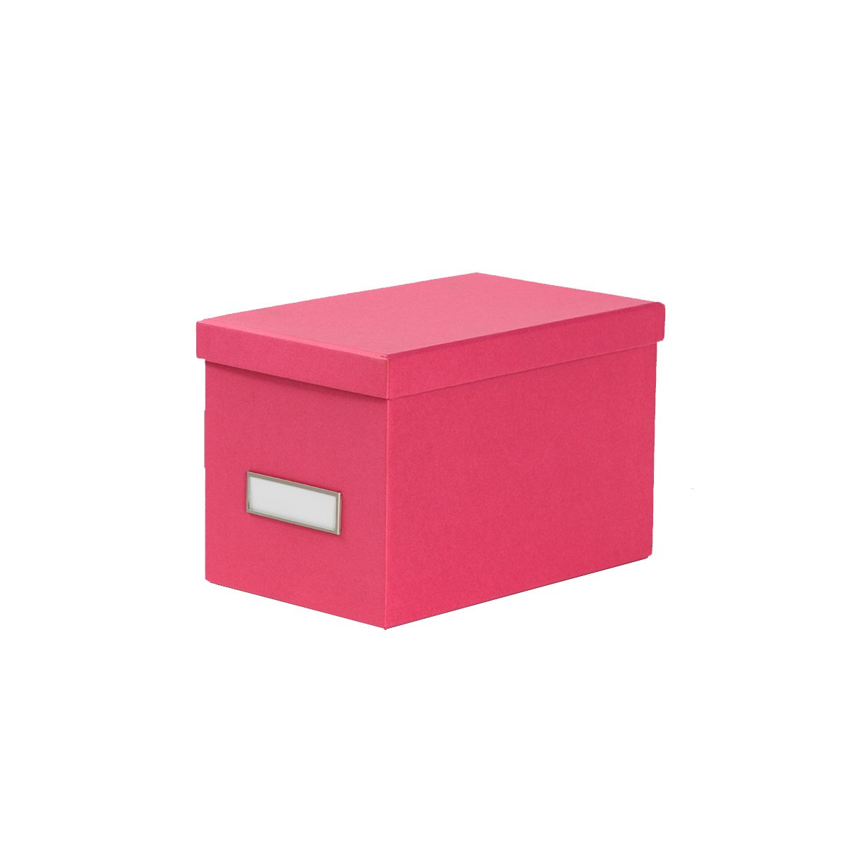 bo te de rangement cd en carton fuchsia. Black Bedroom Furniture Sets. Home Design Ideas