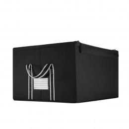 Boîte de rangement en tissu noir avec armature L