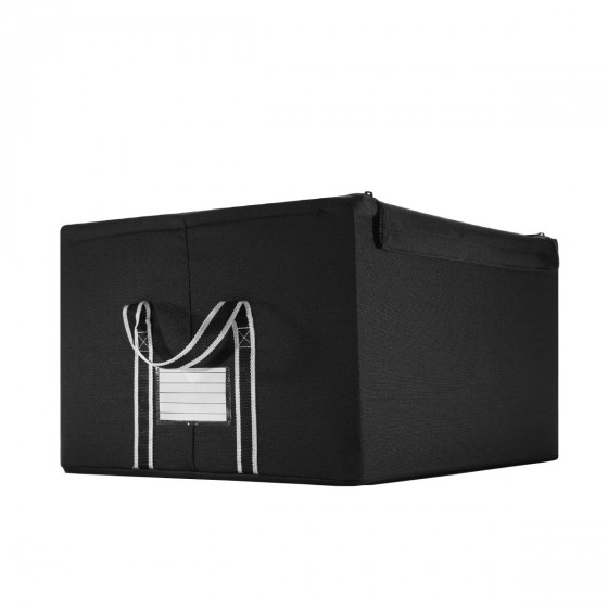 bo te de rangement en tissu noir avec armature pliante. Black Bedroom Furniture Sets. Home Design Ideas