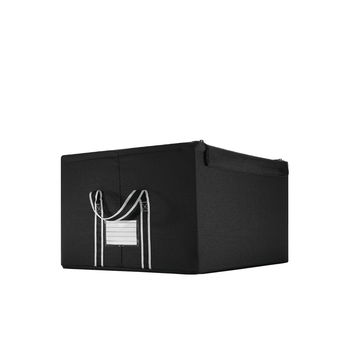 bo te de rangement pour placards en tissu noir. Black Bedroom Furniture Sets. Home Design Ideas