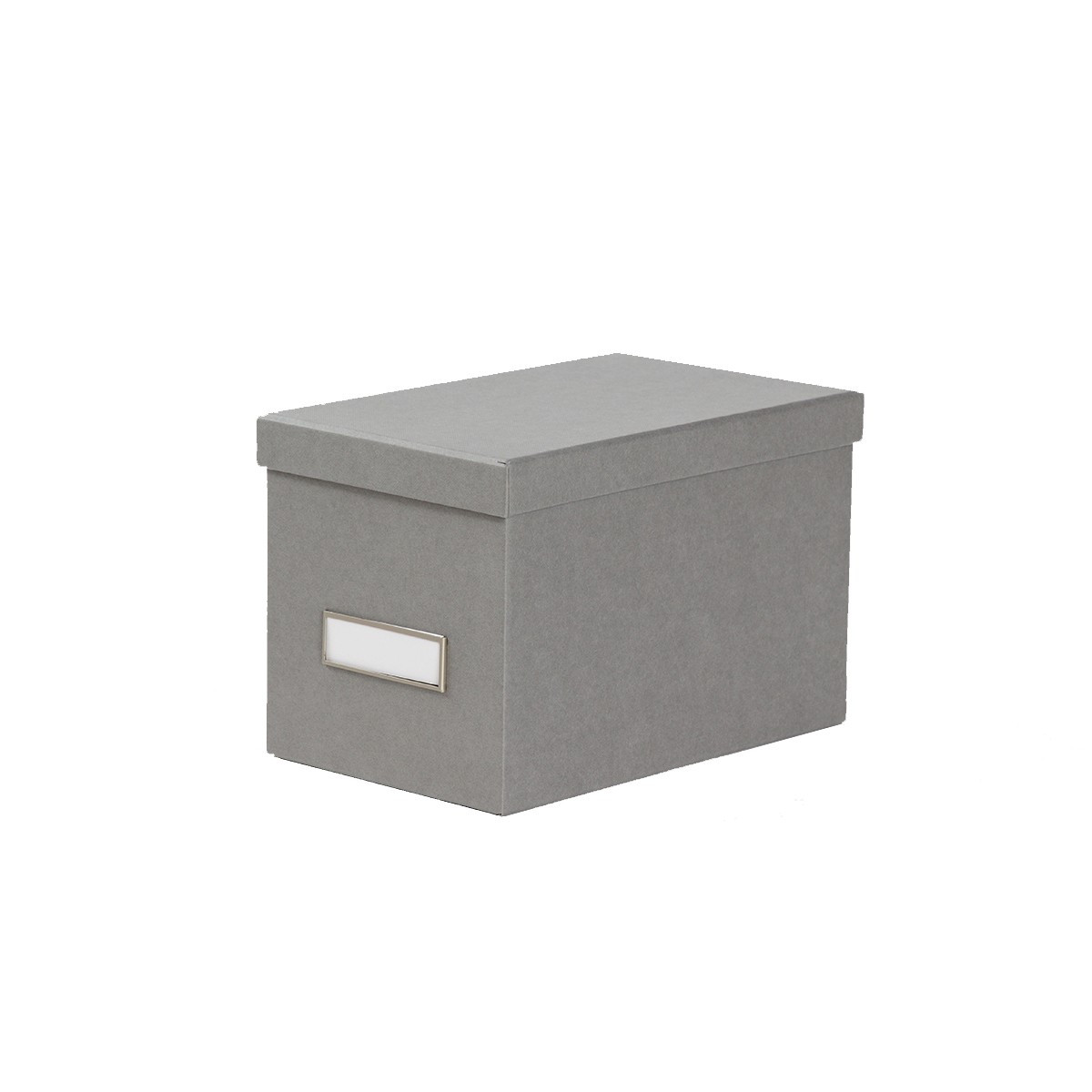 bo te de rangement cd en carton gris clair. Black Bedroom Furniture Sets. Home Design Ideas