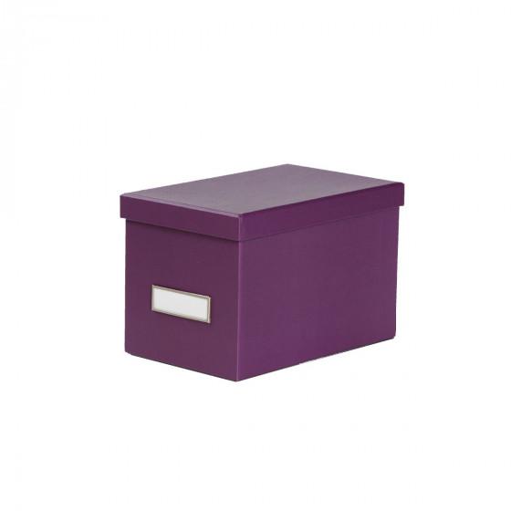 Boîte à CD en carton prune