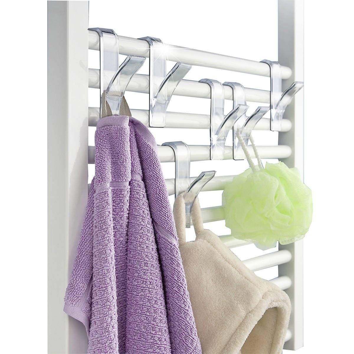 6 crochets suspendre sur radiateur salle de bain - Porte serviette en grillage plastique ...