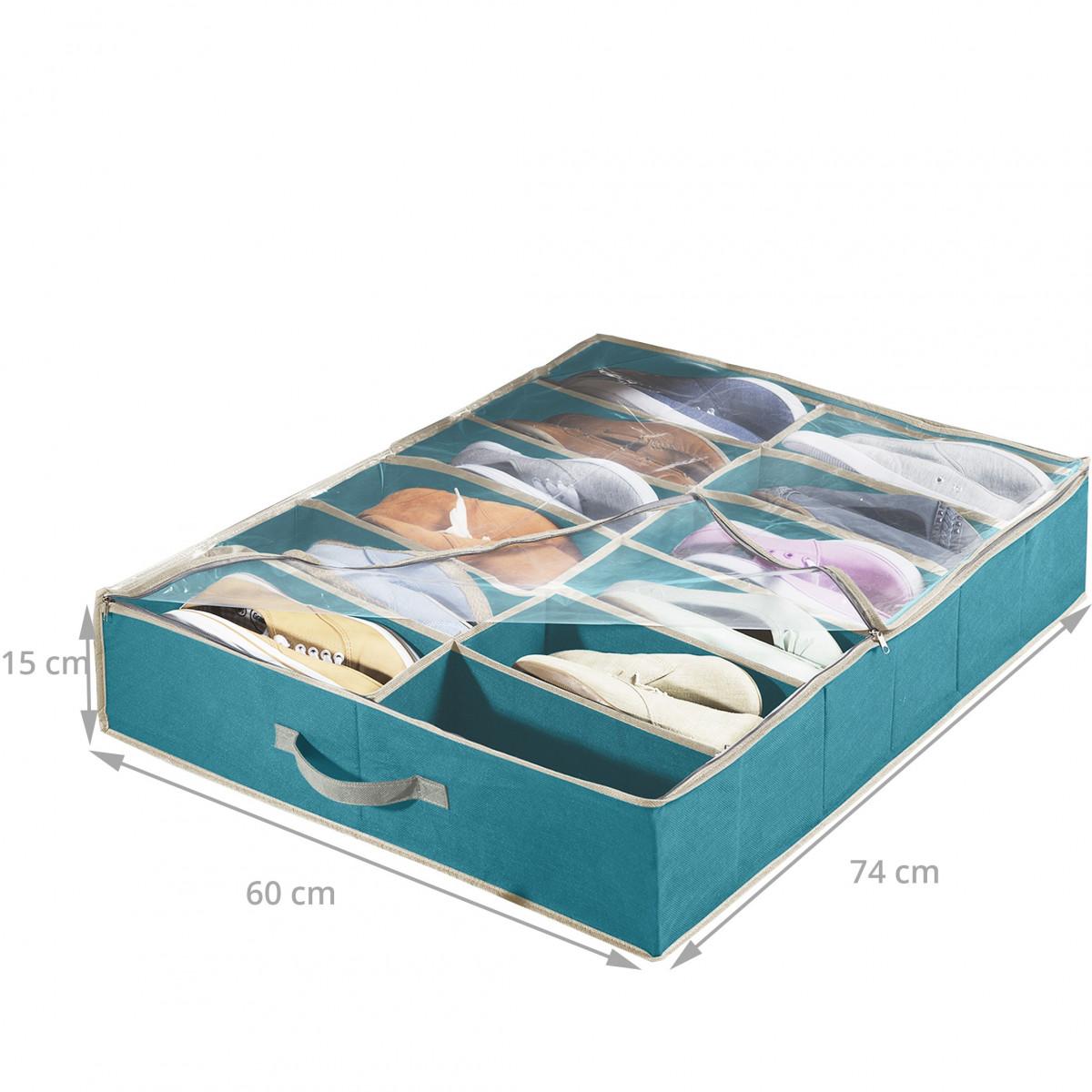 Housse rangement chaussures sous le lit for Rangement sous de lit