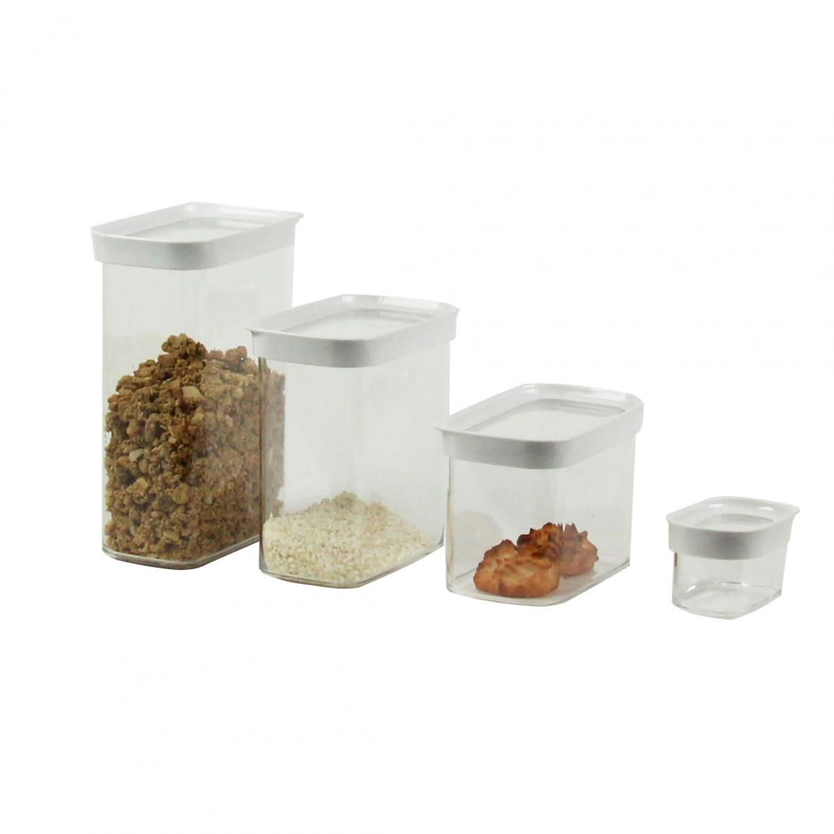 bo te de rangement cuisine empilable plastique 2 2 litres. Black Bedroom Furniture Sets. Home Design Ideas