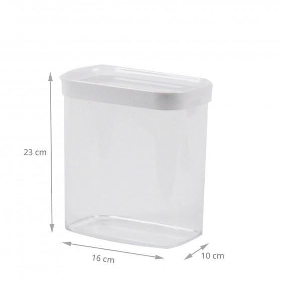 Boîte de rangement alimentaire empilable en plastique. 2,2 litres.