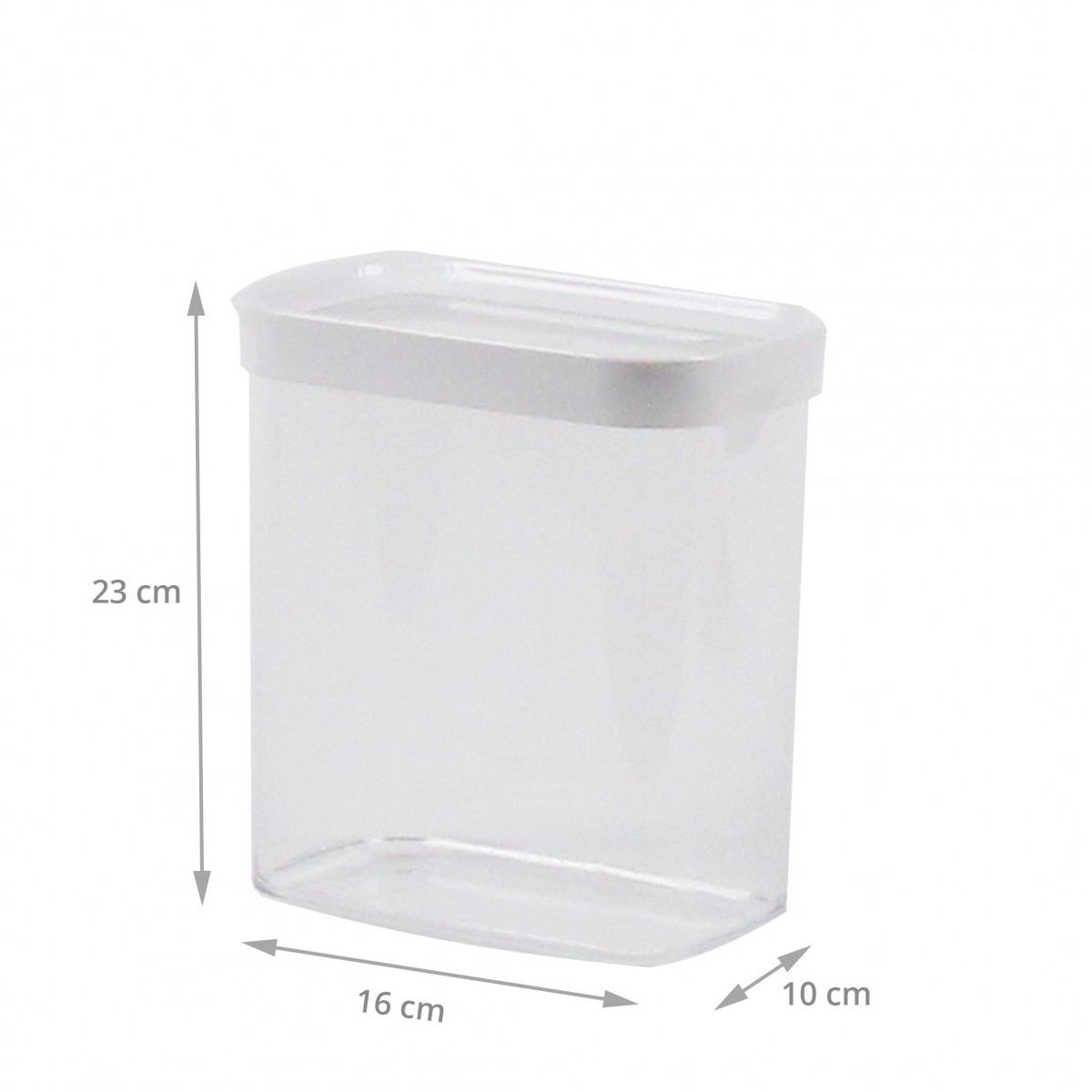 Boîte de rangement cuisine empilable plastique 2,2 litres