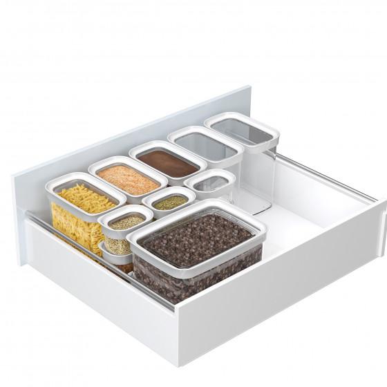 bo te alimentaire empilable en plastique 2 litres cuisine. Black Bedroom Furniture Sets. Home Design Ideas