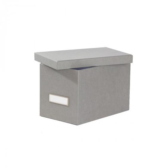 Boîte à CD en carton gris flanelle