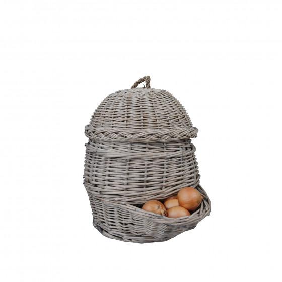 Panier en osier oignons ou pommes de terre rangement for Ou trouver des paniers en osier