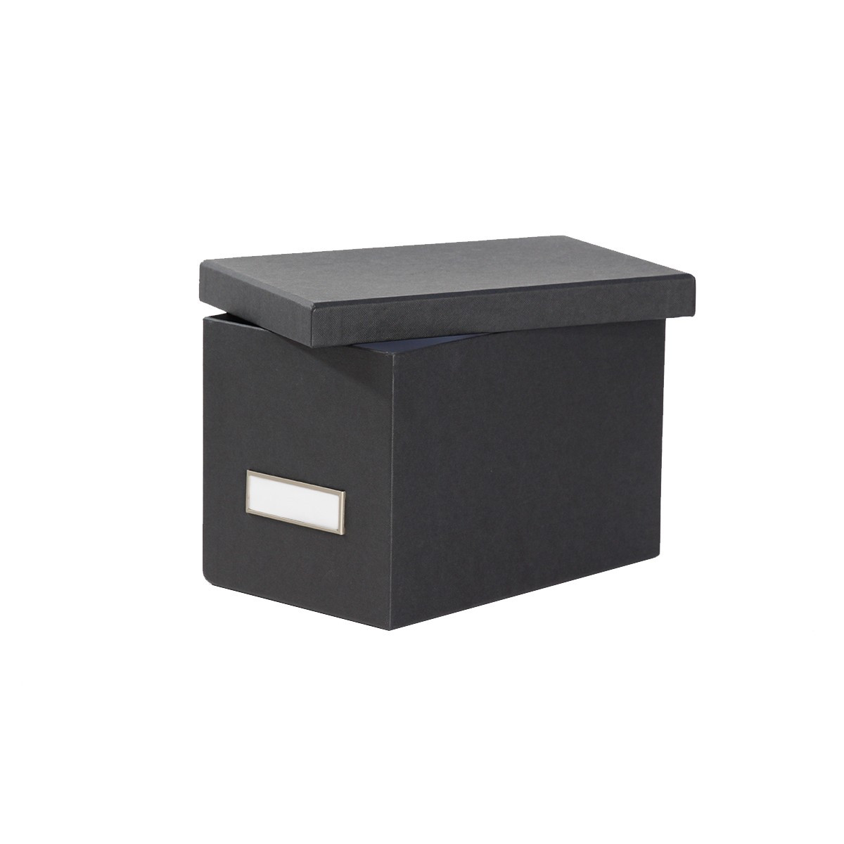 bo te de rangement cd en carton gris fonc. Black Bedroom Furniture Sets. Home Design Ideas