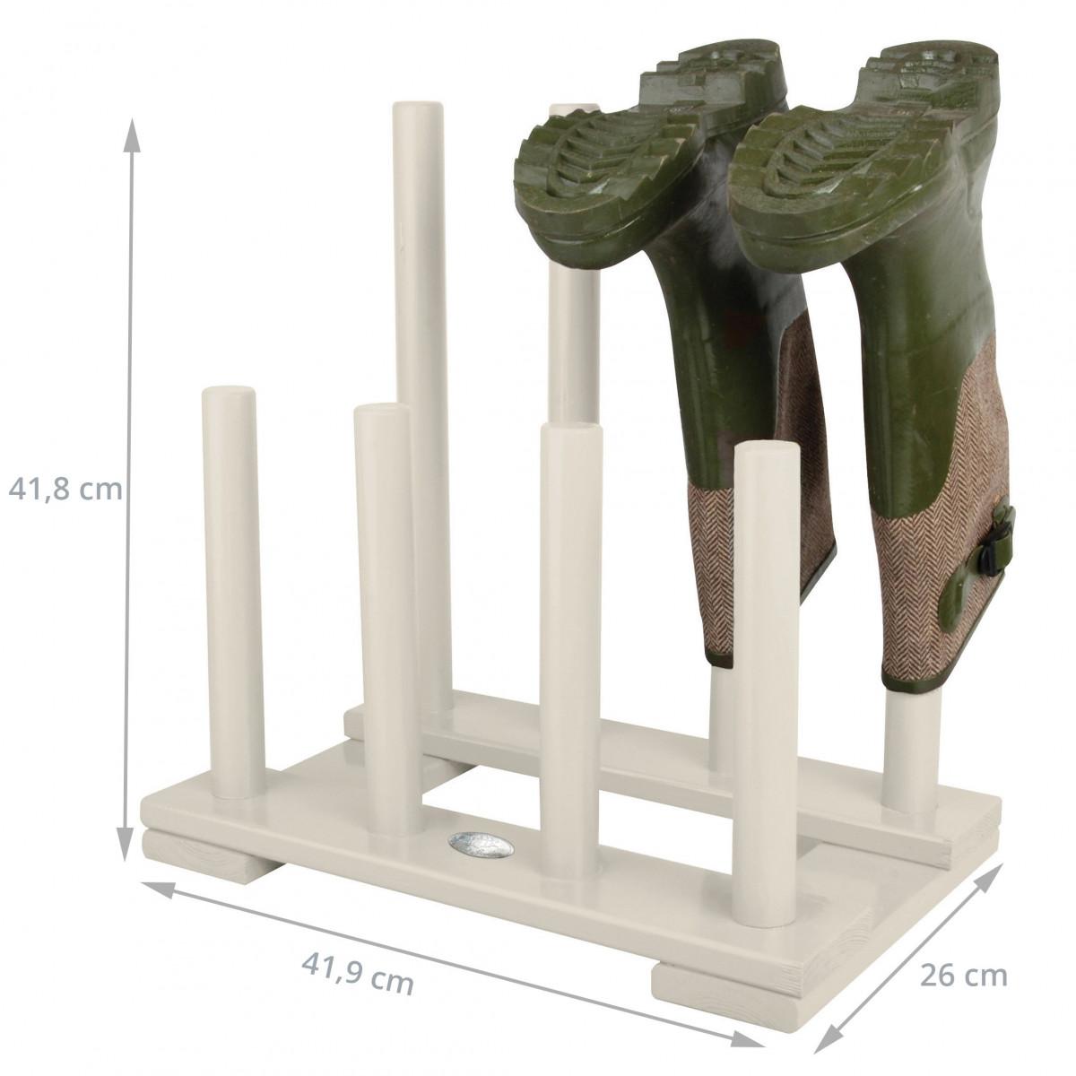 Range bottes de jardin en bois blanc rangement jardin - Range chaussures bois ...