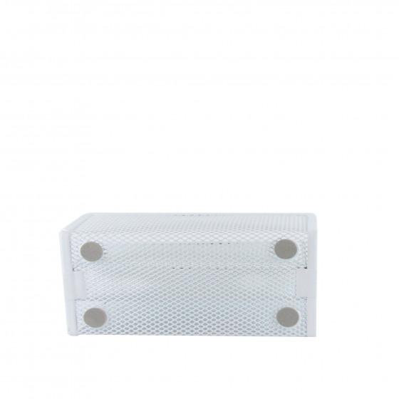 Porte-lettres en maille métallique blanche